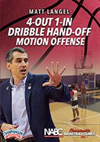 Cover: 4-out 1-in dribble hand-off motion offense