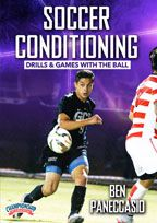 Cover: soccer conditioning drills and games with a ball