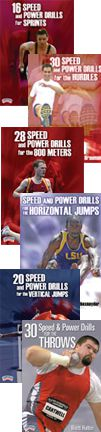 Cover: speed and power drills for track and field series