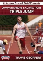 Cover: arkansas track and field presents common errors and corrections triple jump