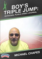 Cover: online seasonal training plan: boy's triple jump