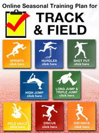 Cover: online seasonal training plan for girl's track and field