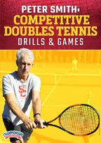 Cover: peter smith: competitive doubles tennis drills & games