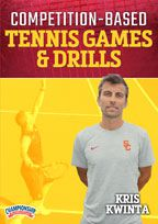 Cover: competition-based tennis games & drills