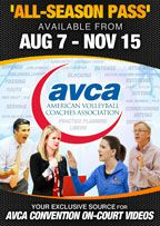 Cover: avca volleyball - online video all season pass