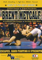 Cover: brent metcalf - escapes, hand fighting & strength